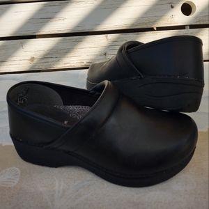Dansko XP 2.0 Black Leather Classic Clogs EU 37 Shoe Sz 6.5 - 7